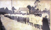 Mary McLeod Bethune - girls from her Educational and Industrial Training School for Negro Girls.