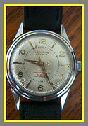 Lucerne - Seldom Seen 17 Jewel Automatic with a Champagne Colored Starburst Dial and all Stainless Steel Case - Wristwatch - (circa 1960s)