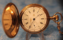Hampden Watch Company - Very Fancy Yellow Gold Filled Case and Scarce Fancy Dial - Hunters Case - 18 Size - 17 Jewels Pocket Watch - (circa 1894)