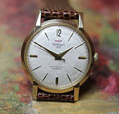 Waltham - Solid 14K Gold - Incredible 100 Jewel Self-Winding Movement Wristwatch - (circa 1960s)