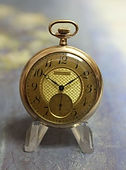 American Waltham - 12s - 17j - 10K Gold Filled Open Face Case with Two Tone Gold Dial - Stem Wind and Set - Pocket Watch - (Circa 1914)