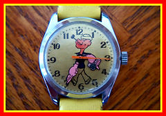 Popeye - Mechanical Wind Character Wristwatch in Excellent original condition - (circa 1950s)