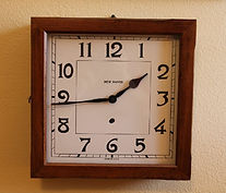 New Haven - Solid Mahogany - Square Picture Frame 8-Day Wall Clock - (circa 1930s)