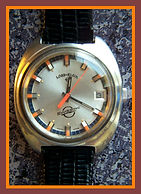 Lord Elgin - Swissonic - Electronic Movement, Date Window at the 3 o'clock Position - Big Heavy Mod Wristwatch - (circa 1970s)