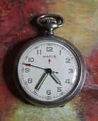 Hafis - Swiss - Sterling Silver - 0 Size Open Face Case - 17 Jewels – Pocket Watch - (circa 1930s)