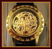 Eric Edelhausen - Gold Skeleton Watch (Model Dorado Ref – 818-005) - 21 Jewels Automatic Movement Wristwatch - (circa 2010)