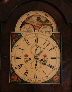 """English """"Wide Body"""" with an Incredible Dial - Fully Restored - Tall Case Clock - (circa 1825)"""