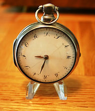 Samuel Deacon - English Sterling Silver Pair Case - Verge fusee movement with a very RARE personalized dial - from a famous maker - Pocket Watch -(Circa 1795)