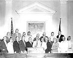 Group portrait of the Pork Chop Gang during the 1956 special session of the Florida Senate