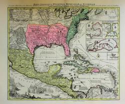 Mappa Geographic Regionem Mexicanam et F