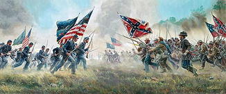 American Civil War - battlefield painting