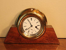 Seth Thomas - Brass Navigation Clock - Time Only 8-Day Movement - (circa 1950s)
