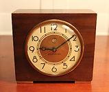 Westclox - Solid Black Walnut Wood Electric Alarm Clock - (circa 1940s)