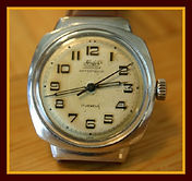 Hafis - Cushion Case with Hooded Lugs - 17 Jewels Mechanical Movement Wristwatch - (circa 1950s)