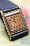 Elgin -  A RARE Pink Enamel Dial and 14K White and Yellow Gold Filled Fancy Large Art Deco Tank Style with 15 Jewels Wristwatch - (circa 1926)