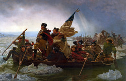 George Washington Crossing the Delaware - by Emanuel Leutze ca. 1851