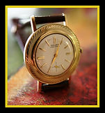 Gruen - Precision - Very Unusual Swirling Bezel - 10K Gold Filled Case - 17 Jewel Mechanical Wind Dress Wristwatch - (Circa 1950s)