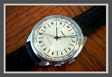 Raketa - Soviet Union Made Wristwatch, True 24 Hour Dial, Marked CCCP, 16 Ruby Jewels, World Time Zone Dial, Made for Soviet Polar Expeditions - (circa 1980s)