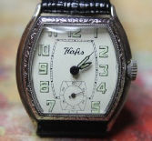Hafis - Art Deco Engraved Barrel Case -  15 Jewels, 3 Adjustments Mechanical Wind Movement wristwatch - (circa 1930s)