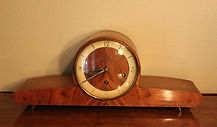 Schatz Mantle Clock - German Made - Beautiful wood case with Westminster Chimes – (circa 1970)