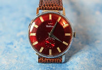 Waltham - Ruby Red Dial - Antimagnetic - Mechanical Wristwatch - (circa 1970s)