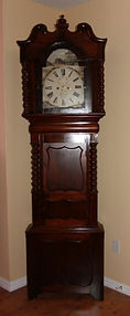 "Griffith Jones - North Wales, English ""Wide Body"" with a Triple Shield Case Design - Fully Restored - Tall Case Clock - (circa 1875)"