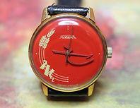RAKETA (Rocket) - Blood Red Hammer and Sickle USSR - Marked 838 - Wristwatch - (circa 1980s)
