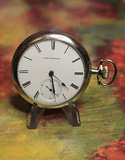 Keystone Standard Watch Co., Lancaster, PA - Nickeloid Open Face Case with 15 Jewels - 18 Size - Hunting Configuration Movement, Pendant Wind and Lever Set – Pocket Watch - (circa 1890)