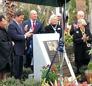 Groveland Four - Gov. Ron DeSantis at the unveiling of the monument