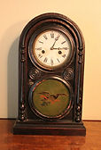E. Ingram Clock Company - American Eagle Motif - Shelf Clock 8-Day Movement - (circa 1860s)
