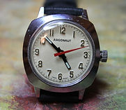 Argonaut - Buler Watch Co. - Cushion Chrome Case with Silver Dial - Wristwatch - (Circa 1950s)