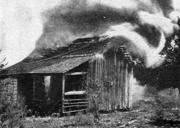 Rosewood Massacre - cabin burning