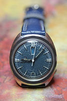 Bulova - Accutron - Rare Day at the 12 o'clock Position and Date at the 6 o'clock Position - Blue Dial and All Stainless Steel Case in Near Mint All Around Condition - (circa 1969)