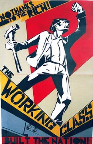 No Thanks to the Rich - The Working Class Built the Nation - (Labor Movement Poster)