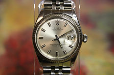 Rolex - Oyster Perpetual, DateJust, Superlative Chronometer, Officially Certified, 18K White Gold Fluted Bezel - Automatic 26 Jewel Movement Wristwatch - (circa 1970)