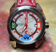 LOCMAN - Crazy Horse - Chronograph Wristwatch with Wild Colorful Pearl Dial - (circa 2010)