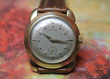Hamilton - Grenadier II - 10K Gold Filled Bezel - Sterling Silver Dial with 18K Solid Gold Markers - 17 Jewels - 730 Movement - Wristwatch - (circa 1957)