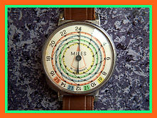 West German (Pedometer) - Multi-colored dial, used to measure the distance walked, Definitely a Unique Collectors Piece - (circa 1960s)