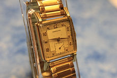 Hamilton Watch Company - 747 Adjusted 17 Jewel Movement - 14K Yellow Gold Filled Tank Case with Flared Lugs Wristwatch - (circa 1949)