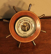 Orbos Barometer - Ships Wheel Case - Made in Germany - (Circa 1920s)