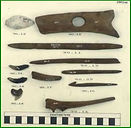 Hand tools found while excavating at Florida's Lake Okeechobee Basin.