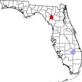 Gilchrist County map.png