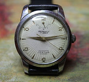Bernhuf - Starburst Dial with Power Reserve - 17 Jewel Automatic Movement Wristwatch - (circa 1960s)