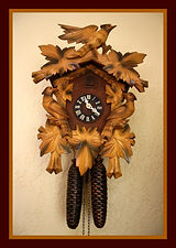 German Black Forest Cuckoo Clock with Fall Colors - (circa 1950s)