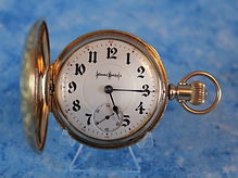 Illinois - Bunn Special - 18 Size Full Hunter's Case - High Grade 21J, GJS., Adj 2 Tone Model 5 Fine Train Stem Wind and Lever Set Movement – Pocket Watch - (circa 1902)