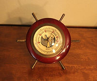 Stellar Barometer - Ship's Wheel Case - West Germany - (Circa 1950s)