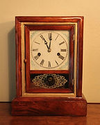 Ansonia Clock Company - Solid Mahogany Shelf Clock - (circa 1860s)