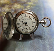 Elgin National Watch Co.  - B.W. Raymond - Silveroid Hunters Case - 18 Size - 15j - Stem Wind - Lever Set – Pocket Watch - (circa 1892)