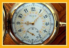 Elgin National Watch Co. - Beautiful Ornately Designed Dial - Full Hunters 10K Gold Filled Case - 15 Jewels - 12 Size - Pocket Watch - (circa 1918)