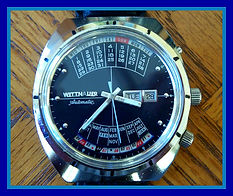 Wittnauer - 2000 Huge Calendar (Day, Date, Month and Year) - Blue Dial with Incredible Detailed Markings - All Stainless Steel Case - Mechanical Wind Movement Wristwatch - (circa 1960s)